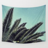 palms Wall Tapestries featuring Palms by RichCaspian