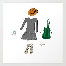 The Perfect Outfit Art Print