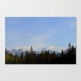 Blue Skies - Zakopane Canvas Print