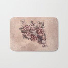 Guns & Flowers Bath Mat