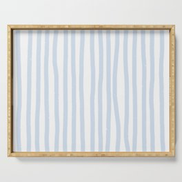 Light Blue Stripes Serving Tray