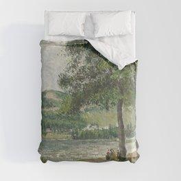 Camille Pissarro - Cours-la-Reine in Rouen, Overcast Sky Comforters