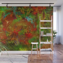 Swirling Stew (abstract, psychedelic, visionary) Wall Mural