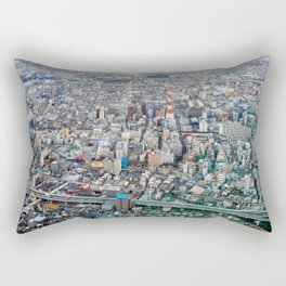 The Osaka Concrete Jungle Rectangular Pillow