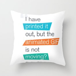animated GIF  Throw Pillow