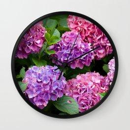 Pink & Purple Flowers Wall Clock
