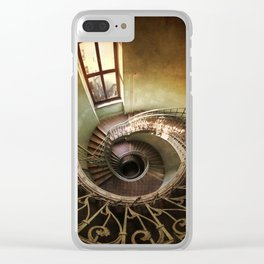Spiral staircaise with a window Clear iPhone Case