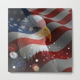 Patriotic America Metal Print