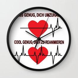 Nurse female doctor doctor resuscitating gift Wall Clock