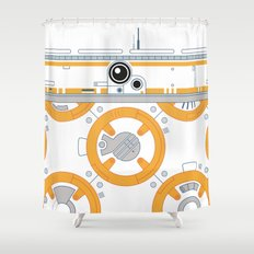 Minimal BB8 Droid Shower Curtain