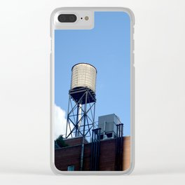 East Village Water Tower Clear iPhone Case