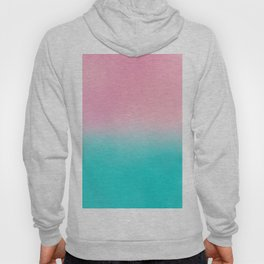 Artistic blush pink tropical turquoise watercolor ombre Hoody