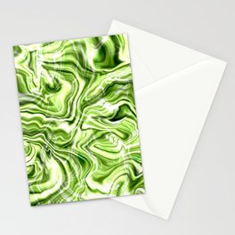 Green marble texture Stationery Cards