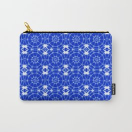 Sapphire Blue Pinwheels Carry-All Pouch