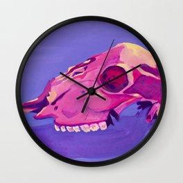 Purple Desert Skull Wall Clock