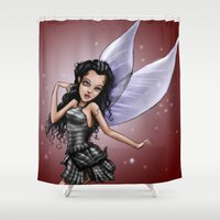 fairy Shower Curtains featuring Fairy by Jessica Jimerson