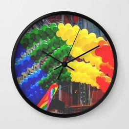 Proud Scene (LGBT Pride Parade) Wall Clock