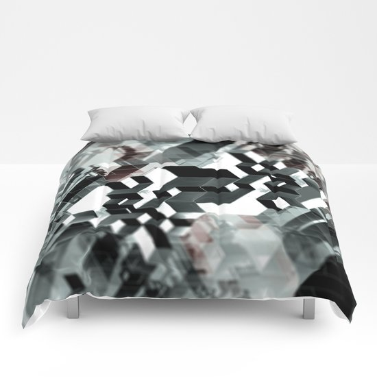 Sim City Monochrome Comforters