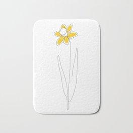 Mustard Daffodil Bath Mat