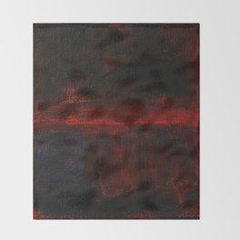 Mark Rothko Interpretation Red Blue Acrylics On Canvas Throw Blanket