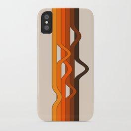 Golden Wavelength iPhone Case