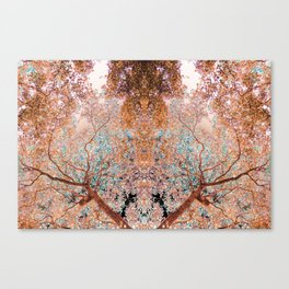 The Lungs of the Earth - Gold, Pink &Turquoise Canvas Print