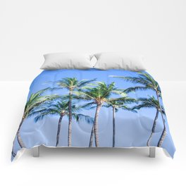 Palms in Living Harmony Comforters