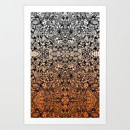 Orange Zen  Art Print
