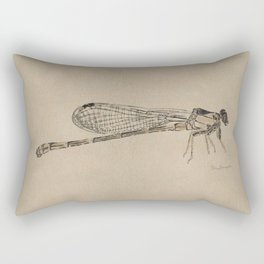 Dragonfly Fossil Rectangular Pillow