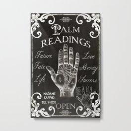 Vintage Palmistry Sign Metal Print