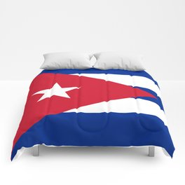 Flag of Cuba - Authentic version (High Quality Image) Comforters