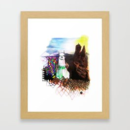 Lama Glama Framed Art Print