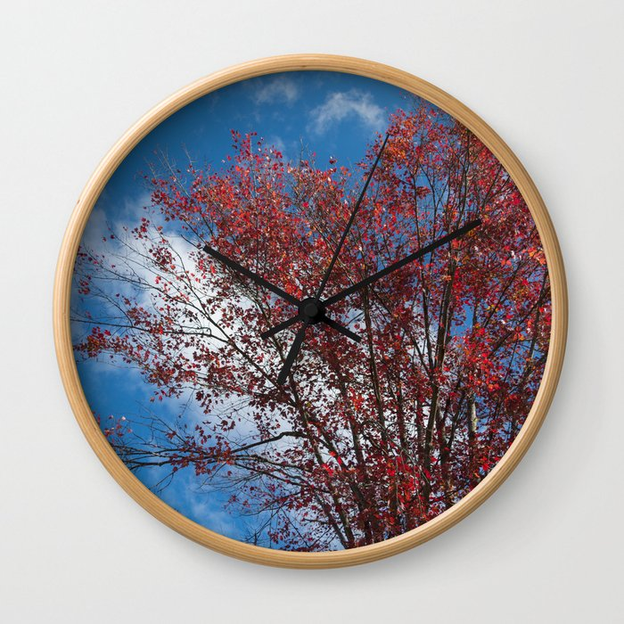 Menominee Red Wall Clock