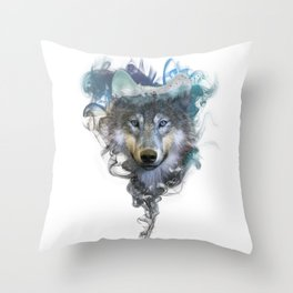 Wolf - Spirit Animal Throw Pillow