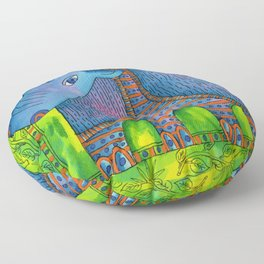 Patterned Rhino Floor Pillow