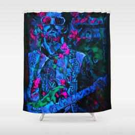 Cold Clapton, Light Layla Shower Curtain