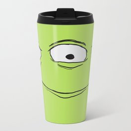 Alien Face Metal Travel Mug
