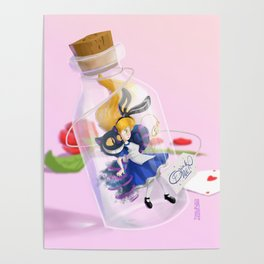 Alice in a bottle (drink me) Poster