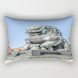 Imperial Guardian Lion, Beijing Rectangular Pillow