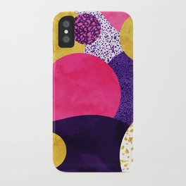 Terrazzo galaxy purple night yellow gold pink iPhone Case