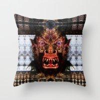 animal crew Throw Pillows featuring Animal by Zandonai