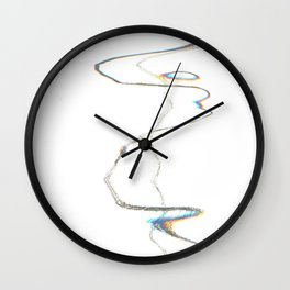 Scanner Drawing Wall Clock