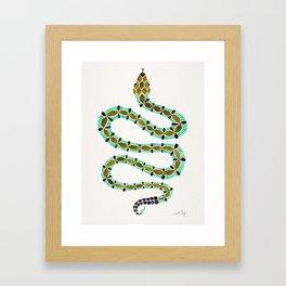 Turquoise Serpent Framed Art Print