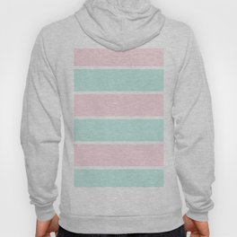 Blush pink teal modern color block pastel stripes Hoody