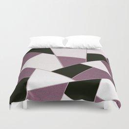 Mauve Black Geometric Glam #1 #geo #decor #art #society6 Duvet Cover