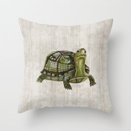 Little Turtle, Forest Animals, Woodland Decor, Woodland Art, Throw Pillow