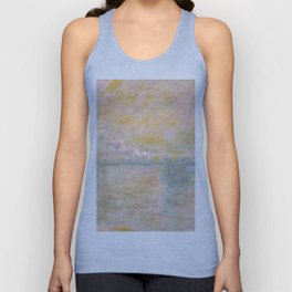 1902-Claude Monet-Charing-Cross Bridge in London-65 x 100 Unisex Tank Top