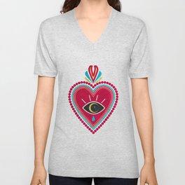 Ex Voto Sacred Heart Unisex V-Neck