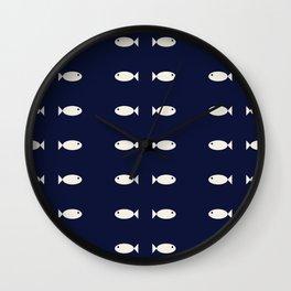 Fish Pattern,Nautical Wall Clock