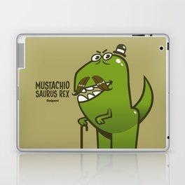 Mustachio Saurus Rex Laptop & iPad Skin